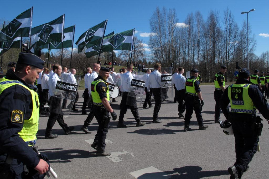 Taktisk polis holl lugnt i stockholm